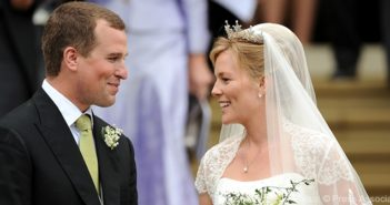 Peter Phillips and Autumn Kelly leave St. George's Chapel after their marriage ceremony at Windsor Castle.