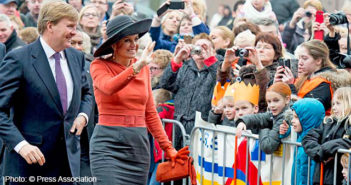 King Willem-Alexander and Queen Maxima visited the multifunctional center De Deele in Emmer-Compascuum, Netherlands