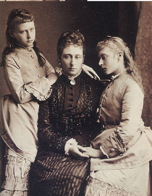 Alix and Ella with their mother Princess Alice of Great Britain. Photo © Leppi Publications.