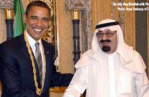 King Abdullah with President Barack Obama