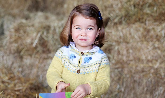 A portrait of Princess Charlotte released to mark her second birthday.