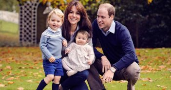 The Duke and Duchess of Cambridge with Prince George and Princess Charlotte at Anmer Hall in December 2015.