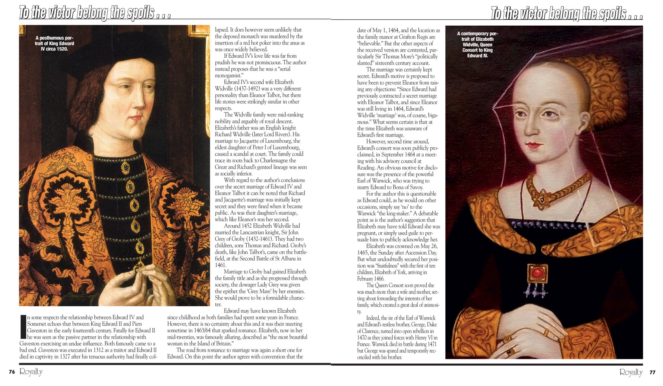 Extract from Royalty Magazine Volume 24/09.
